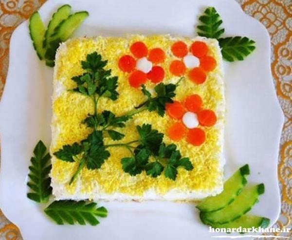 تزیین کیک مرع با مایونز