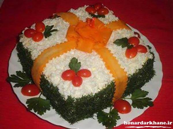 تزیین روی کیک مرغ