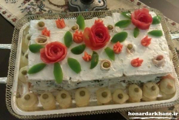 تزیین کیک مرغ برای تولد