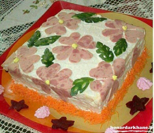 تزیین کیک مرغ شیک و زیبا