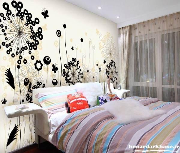 تزیین دیوار اتاق خواب با استیکر