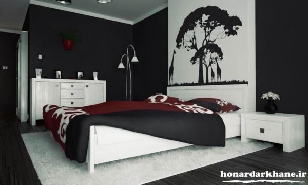 تزیین دیوار های اتاق خواب