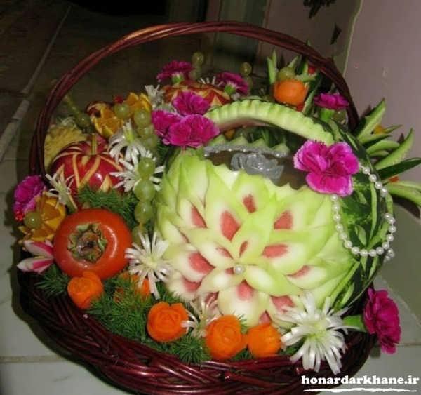 تزیین ظرف میوه جدید