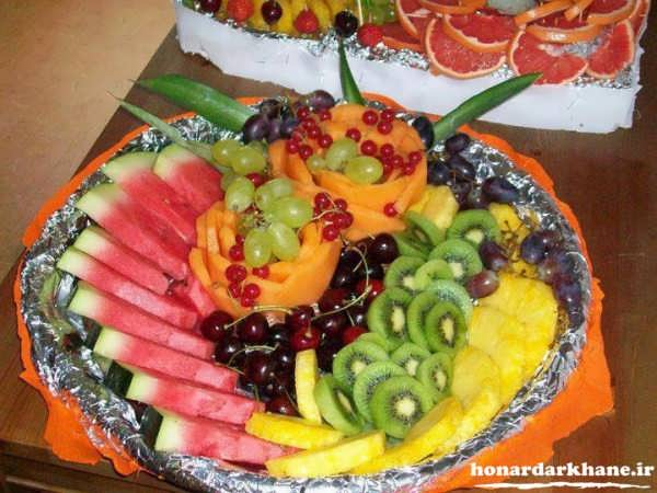 تزیین ظرف میوه