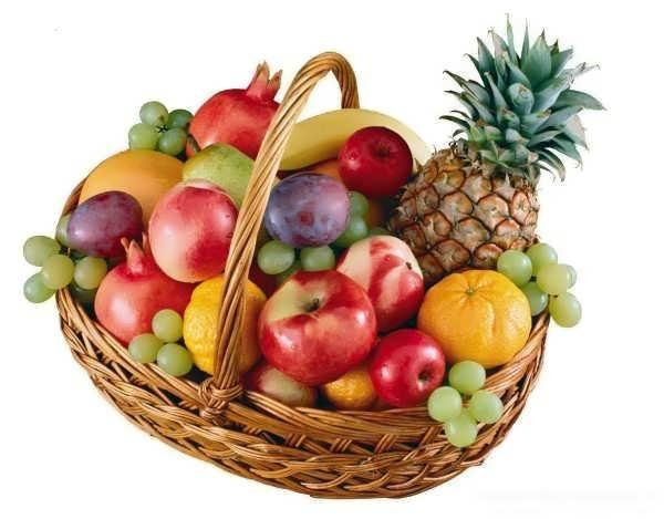 تزیین ساده میوه در سبد