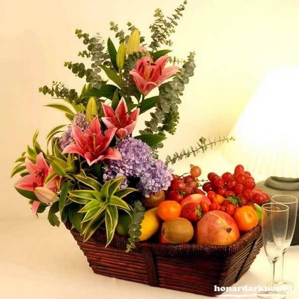 تزیین میوه ساده و زیبا