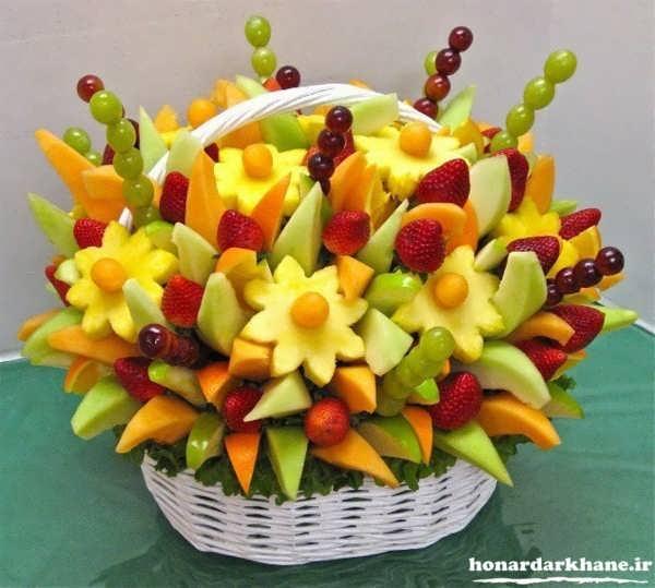 تزیینات میوه در سبد