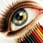 مدل نقاشی با مداد رنگی