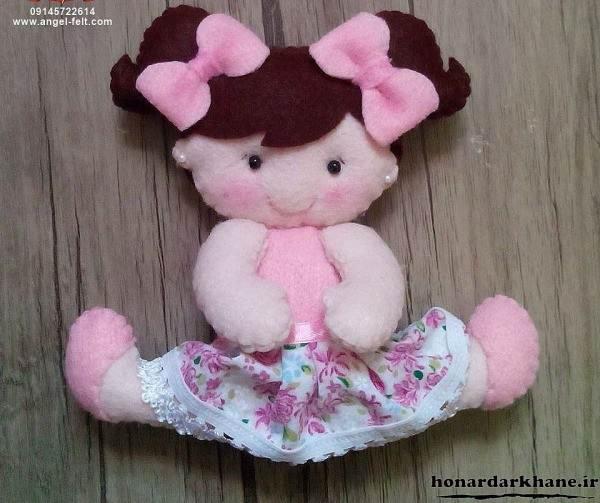 ساخت عروسک دختر نمدی