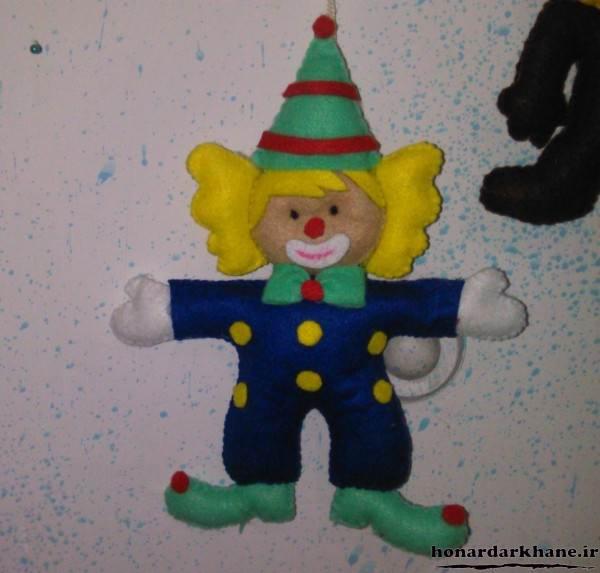 مدل عروسک دلقک نمدی