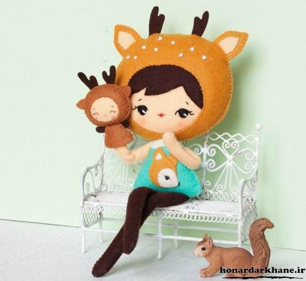 مدل عروسک نمدی جالب و زیبا