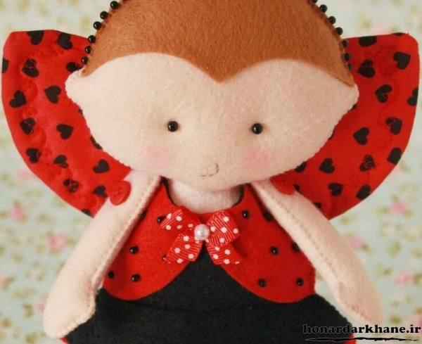 مدل عروسک دخترانه با نمد