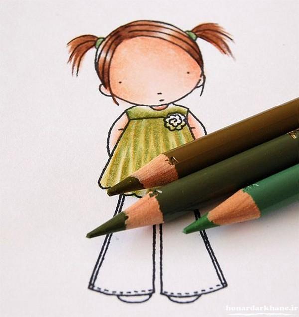 مدل های نقاشی با مداد رنگی