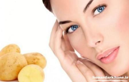 ماسک صورت با سیب زمینی و عسل