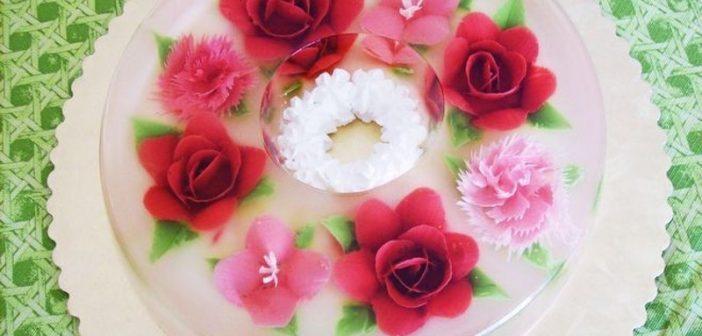 تزیین ژله تزریقی ساده و زیبا برای مهمانی و مجلس