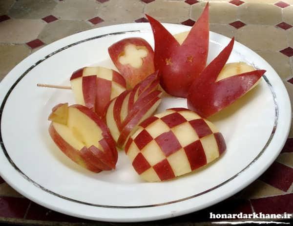 تزیین جالب سیب