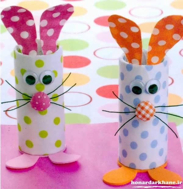 کاردستی خرگوش با وسایل ساده