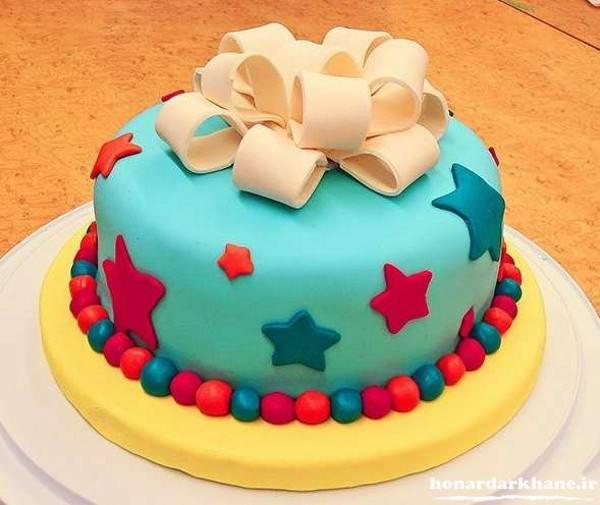 تزیین کیک با فوندانت مارشمالو