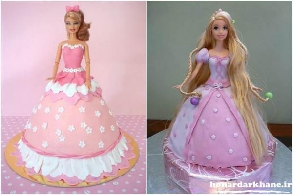 تزیین کیک عروسکی با فوندانت