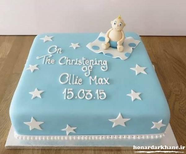تزیین روی کیک با خمیر فوندانت