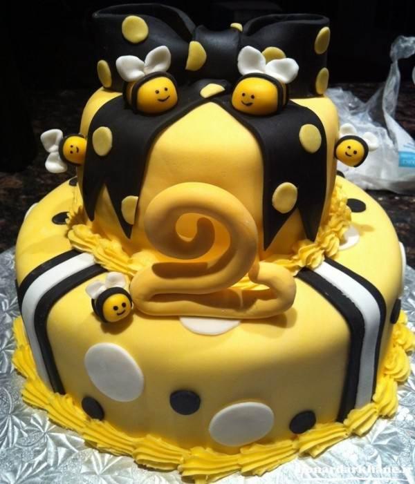 تزیین کیک کودکانه با فوندانت