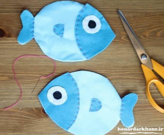 کاردستی ماهی با نمد
