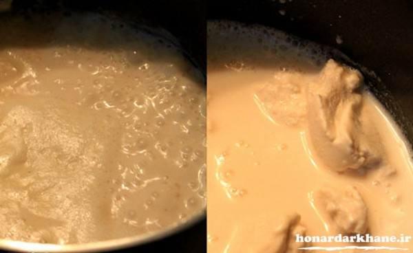 مراحل پخت کشک بادمجان