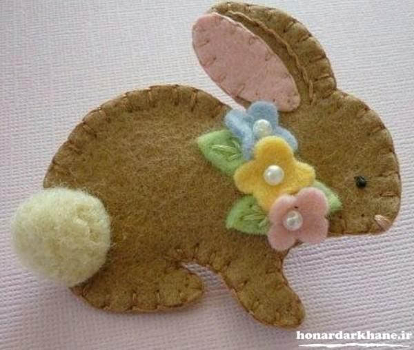 عروسک خرگوش با نمد