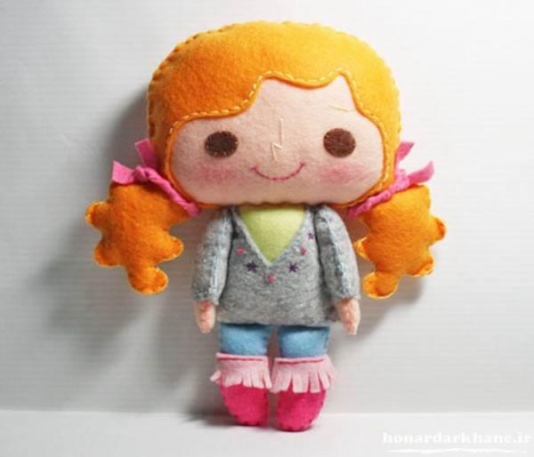 سات عروسک نمدی دختر