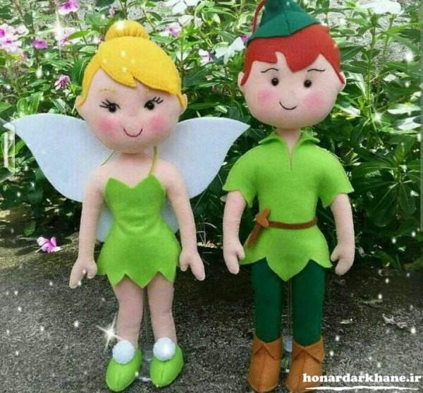 عروسک های زیبا با نمد