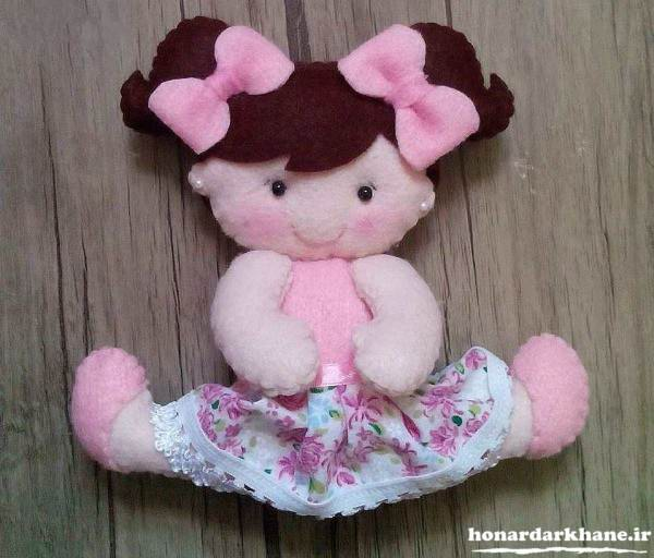 مدل عروسک دختر نمدی