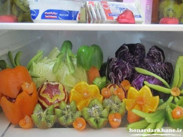 تزیین میوه برای یخچال عروس