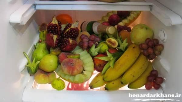 میوه آرایی برای داخل یخچال عروس