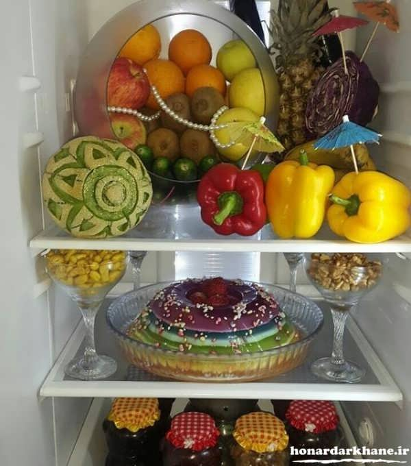 میوه آرایی یخچال عروس
