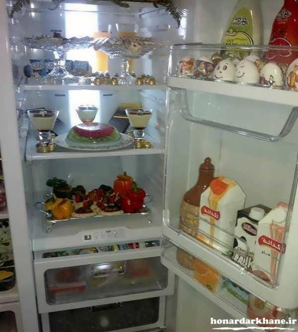 تزیین ساده یخچال عروس