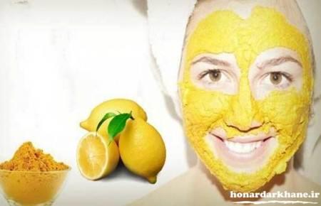 ماسک صورت با زردچوبه و آبلیمو