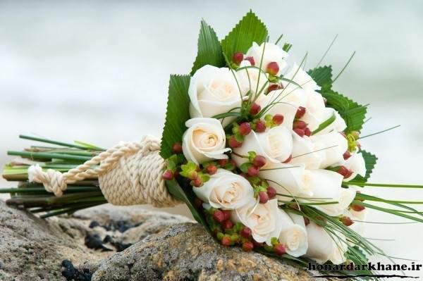 دسته گل سفید