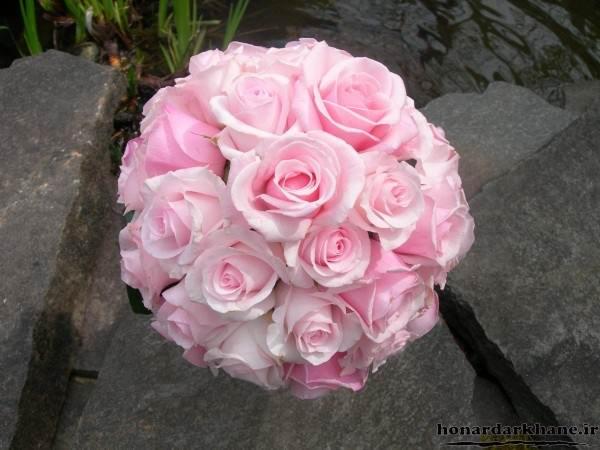 دسته گل عروس با گل رز
