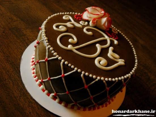 تزیین زیبای کیک شکلاتی