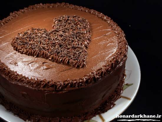 تزیین جدید و زیبای کیک شکلاتی