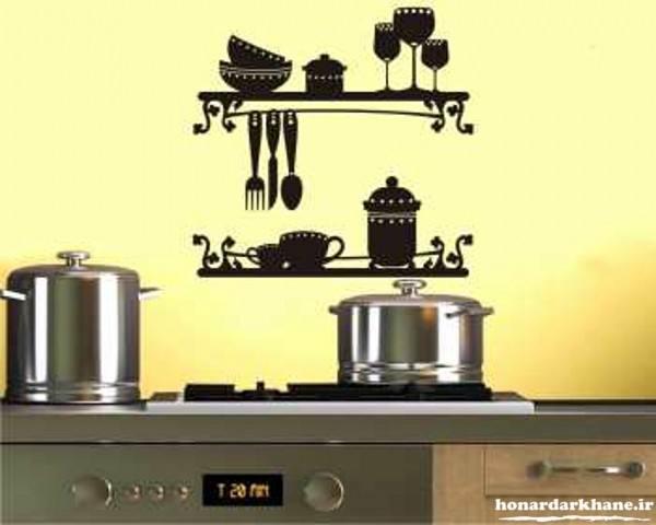 تزیین ساده دیوار آشپزخانه