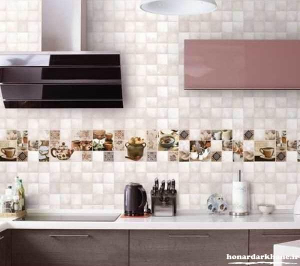 تزیین دیوار آشپزخانه با وسایل ساده