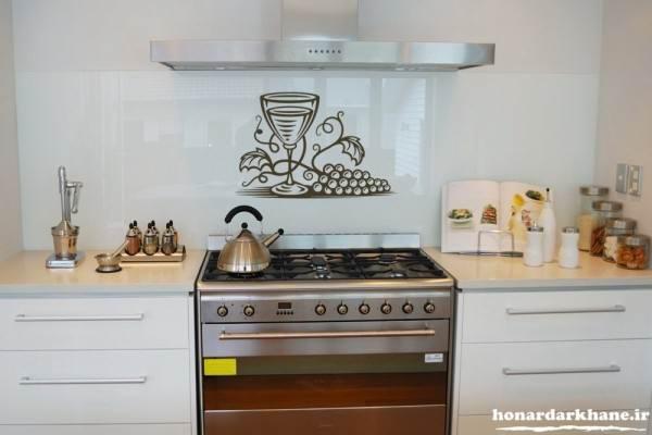 تزیین زیبای دیوار آشپزخانه