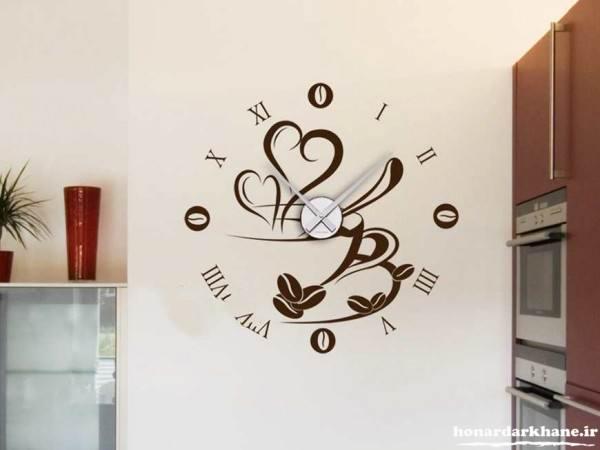 تزیین دیوار با ساعت