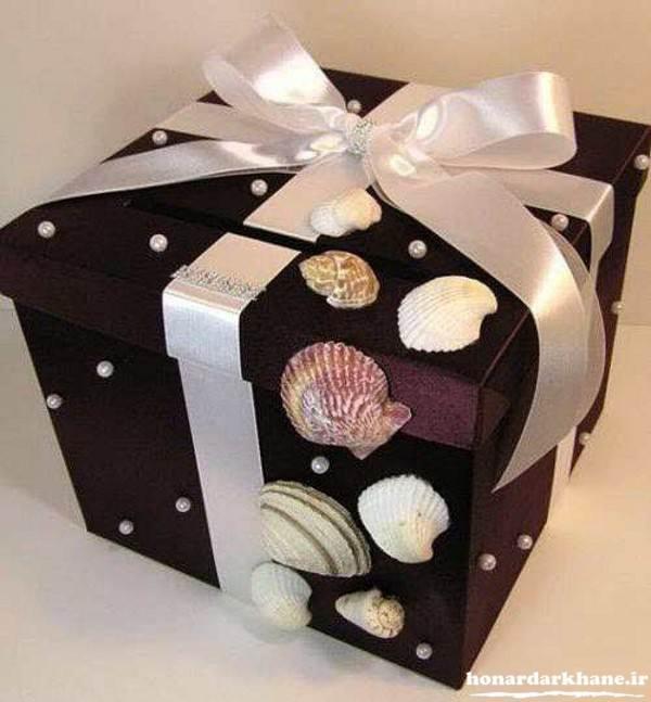 تزیین جعبه هدیه برای عروس