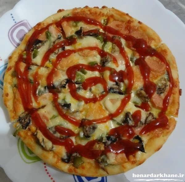 دستور پخت پیتزا مرغ