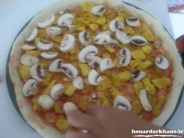 آموزش پخت پیتزا در منزل