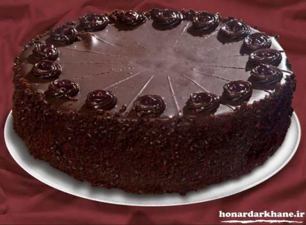 تزیین کیک زیبا با گاناش