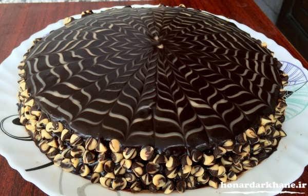 تزیین جدید کیک با گاناش