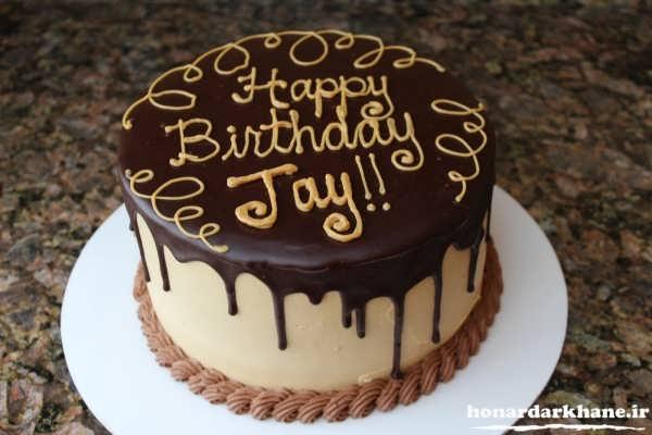 تزیین کیک با گاناش برای جشن تولد